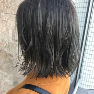 切りっぱなしボブ ブルージュ 外国人風カラー ボブ ヘアスタイルや髪型の写真・画像