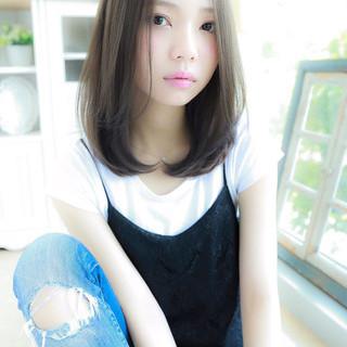 ミディアム ピュア 外国人風 ガーリー ヘアスタイルや髪型の写真・画像