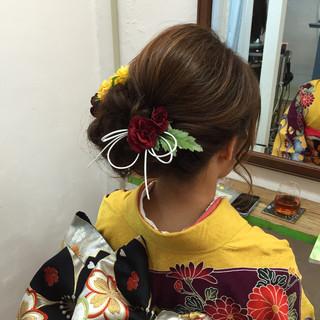 結婚式 大人女子 ヘアアレンジ 着物 ヘアスタイルや髪型の写真・画像 ヘアスタイルや髪型の写真・画像