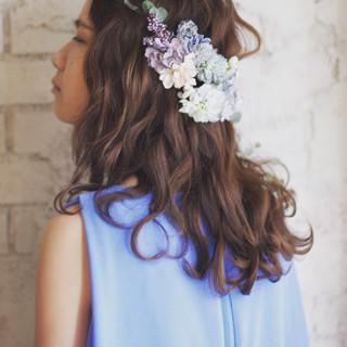 簡単ヘアアレンジ ハイライト ショート 外国人風 ヘアスタイルや髪型の写真・画像