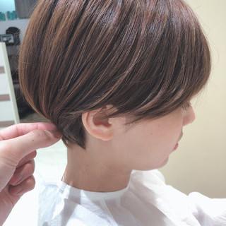 マッシュショート ショート 小顔ショート ショートヘア ヘアスタイルや髪型の写真・画像
