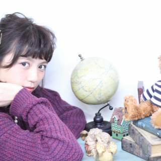 ヘアアレンジ ポニーテール ミディアム ヘアアクセ ヘアスタイルや髪型の写真・画像