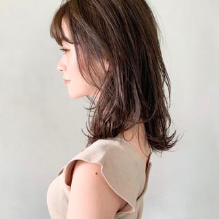 レイヤーカット こなれ感 ミディアムレイヤー ミディアム ヘアスタイルや髪型の写真・画像