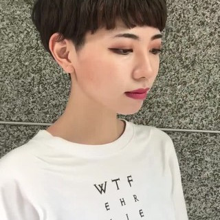 マッシュ モード マッシュヘア ショート ヘアスタイルや髪型の写真・画像