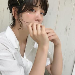 ショート ガーリー ヘアアレンジ 女子力 ヘアスタイルや髪型の写真・画像 ヘアスタイルや髪型の写真・画像