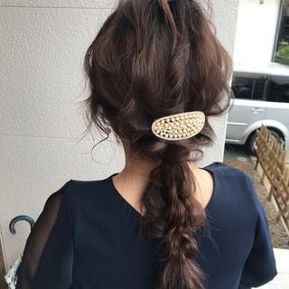 簡単ヘアアレンジ フェミニン 成人式 デート ヘアスタイルや髪型の写真・画像