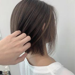 ショートボブ ミニボブ ショート ハイライト ヘアスタイルや髪型の写真・画像