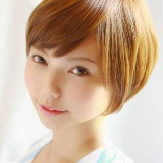 フェミニン ショート 大人かわいい 丸顔 ヘアスタイルや髪型の写真・画像