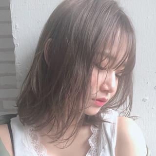大人かわいい ミディアム デジタルパーマ ガーリー ヘアスタイルや髪型の写真・画像