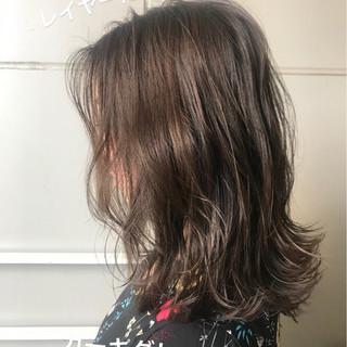 デート ヘアアレンジ 夏 セミロング ヘアスタイルや髪型の写真・画像