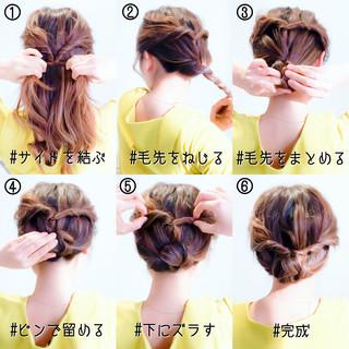 セルフアレンジ 簡単ヘアアレンジ 卒業式 ヘアアレンジ ヘアスタイルや髪型の写真・画像 ヘアスタイルや髪型の写真・画像
