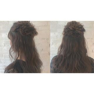 セミロング パーティ 結婚式 ヘアアレンジ ヘアスタイルや髪型の写真・画像