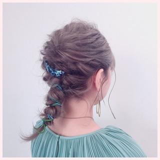 スポーツ 結婚式 ヘアアレンジ ナチュラル ヘアスタイルや髪型の写真・画像