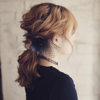ミディアム 外国人風 ハーフアップ ヘアアレンジ ヘアスタイルや髪型の写真・画像