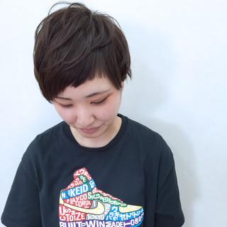 アッシュ アシメバング 前髪あり ショートバング ヘアスタイルや髪型の写真・画像 ヘアスタイルや髪型の写真・画像
