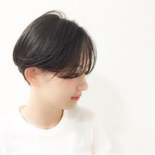 黒髪 モード 爽やか ショート ヘアスタイルや髪型の写真・画像