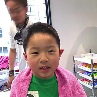ナチュラル 黒髪 子供 ショート ヘアスタイルや髪型の写真・画像