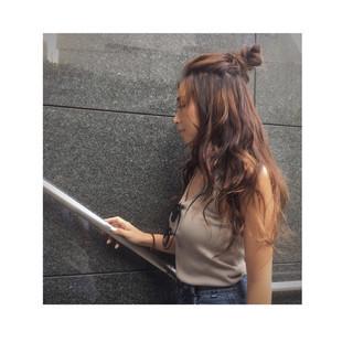 外国人風 ハーフアップ ヘアアレンジ ロング ヘアスタイルや髪型の写真・画像 ヘアスタイルや髪型の写真・画像