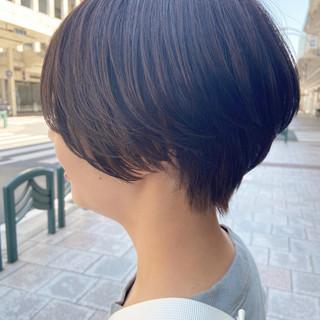 ショートヘア ショートボブ 大人ショート ナチュラル ヘアスタイルや髪型の写真・画像