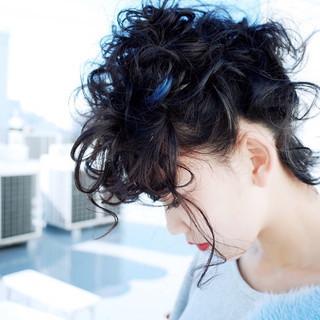 ブルー ストリート ショート ゆるふわ ヘアスタイルや髪型の写真・画像