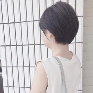 ショート 小顔ショート 夏 ナチュラル ヘアスタイルや髪型の写真・画像