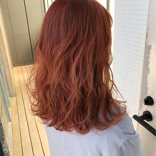 ヘアアレンジ オレンジベージュ ミルクティー ナチュラル ヘアスタイルや髪型の写真・画像