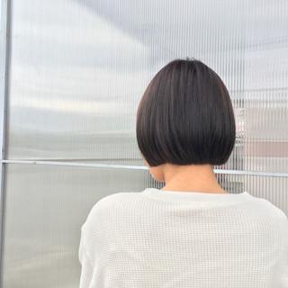 ハイトーン グレージュ 透明感 ショート ヘアスタイルや髪型の写真・画像