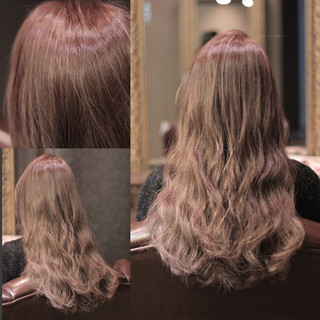 ハイライト セミロング グラデーションカラー ストリート ヘアスタイルや髪型の写真・画像