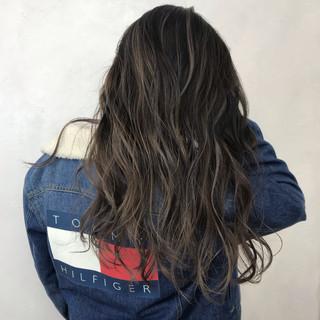 外国人風カラー ロング ストリート 秋 ヘアスタイルや髪型の写真・画像