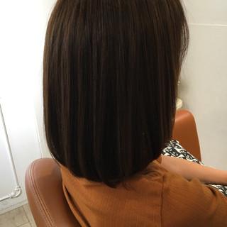 ストレート パーマ 縮毛矯正 ナチュラル ヘアスタイルや髪型の写真・画像