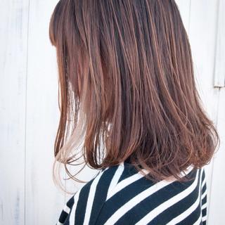 スライシングハイライト インナーカラー ロング 極細ハイライト ヘアスタイルや髪型の写真・画像
