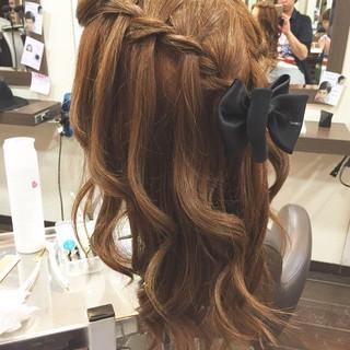 簡単ヘアアレンジ 大人かわいい ゆるふわ ハーフアップ ヘアスタイルや髪型の写真・画像 ヘアスタイルや髪型の写真・画像