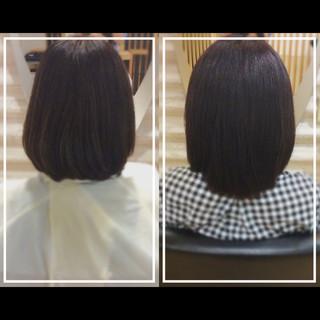 艶髪 ナチュラル ボブ オフィス ヘアスタイルや髪型の写真・画像