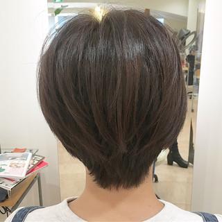 ナチュラル ハンサムショート ラベンダー ショート ヘアスタイルや髪型の写真・画像 ヘアスタイルや髪型の写真・画像