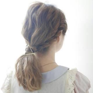 ゆるふわ コンサバ 愛され セミロング ヘアスタイルや髪型の写真・画像