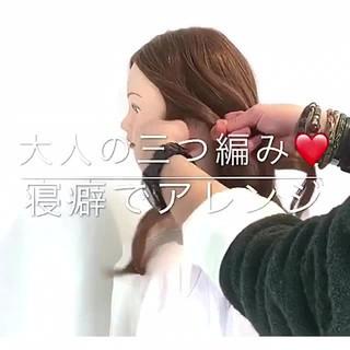 フェミニン 簡単ヘアアレンジ アンニュイ ロング ヘアスタイルや髪型の写真・画像