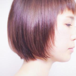 モテボブ ピンク ショートボブ ラベンダーピンク ヘアスタイルや髪型の写真・画像
