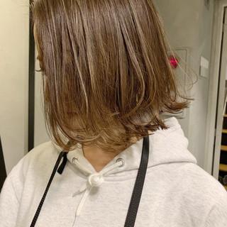 透明感 ウェットヘア ナチュラル ボブ ヘアスタイルや髪型の写真・画像