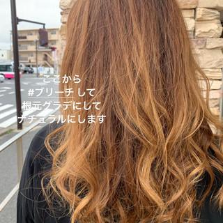 ハイライト グラデーションカラー エレガント バレイヤージュ ヘアスタイルや髪型の写真・画像