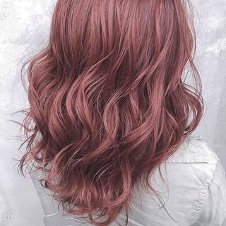 ピンクラベンダー ラベンダー ピンクベージュ ラベンダーピンク ヘアスタイルや髪型の写真・画像