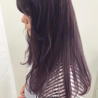 ピンクアッシュ ラベンダーアッシュ ガーリー ラベンダー ヘアスタイルや髪型の写真・画像