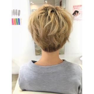 大人かわいい ゆるふわ ベリーショート ナチュラル ヘアスタイルや髪型の写真・画像 ヘアスタイルや髪型の写真・画像