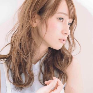 セミロング 透明感 大人かわいい フェミニン ヘアスタイルや髪型の写真・画像