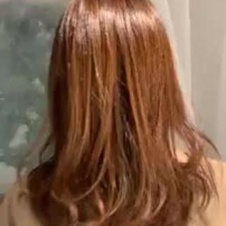 グラデーションカラー ミディアム デート 大人かわいい ヘアスタイルや髪型の写真・画像