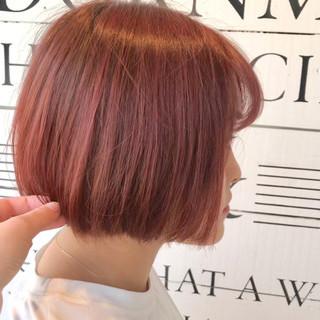 ストリート 切りっぱなし フェミニン ボブ ヘアスタイルや髪型の写真・画像