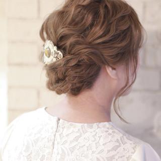 ヘアアレンジ 大人かわいい 結婚式 渋谷系 ヘアスタイルや髪型の写真・画像
