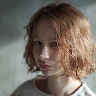 オーガニック エールボブ ボブ 抜け感 ヘアスタイルや髪型の写真・画像