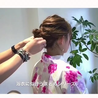 花火大会 上品 エレガント お祭り ヘアスタイルや髪型の写真・画像