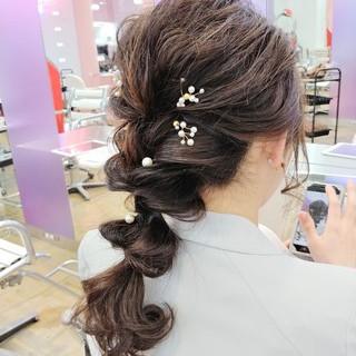 結婚式 成人式 フェミニン ロング ヘアスタイルや髪型の写真・画像