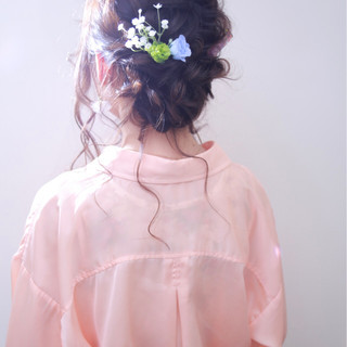 結婚式 ロング ガーリー 大人女子 ヘアスタイルや髪型の写真・画像